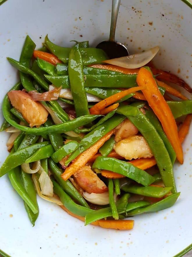 salade-pêche-grillée