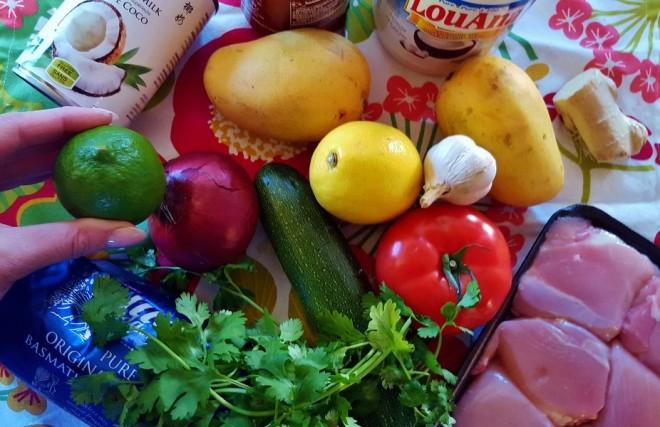 ingrédients-poulet-coco-salsa-exotique